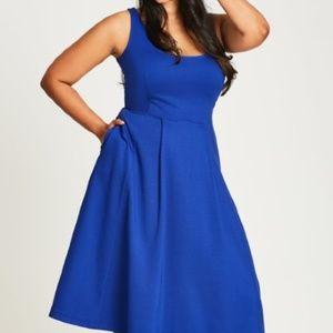 Classic Longline Fit & Flare Dress w/Pockets XS